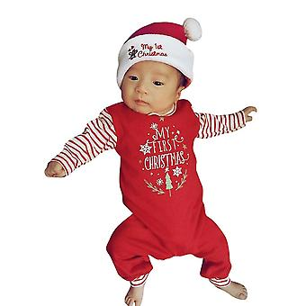 Nouveau-né Baby Girls, Boys Letter Rompers Jumpsuit, Outfit-striped Long Sleeve