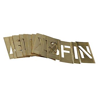 Stencils Set of Brass Interlocking Stencils - Letters 2in STNL2LB