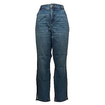 G by Giuliana Women's Plus Jeans Ankle Length Straight Leg Blue 693-797