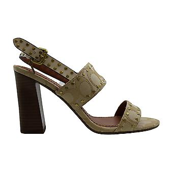 Coach Womens Rylie Leather Open Toe Casual Ankle Strap Sandals