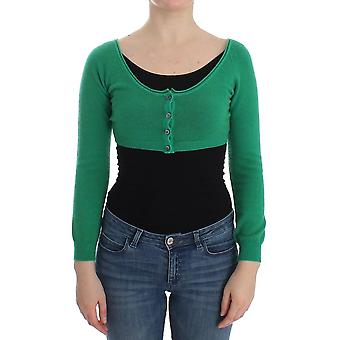 Ermanno Scervino Green Cashmere Cardigan Sweater