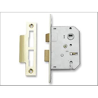Sterling (Padlocks) 3 Lever Mortice Sashlock 2.5in Brass MLS325