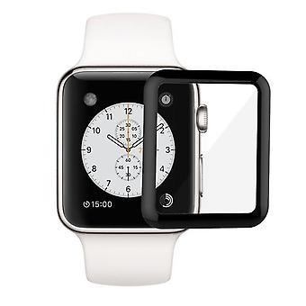 Strapsco apple watch 3d buet overflade hærdet skærm beskytter