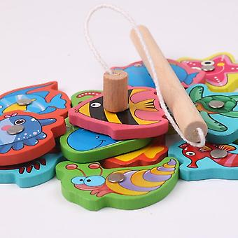 Wooden Magnetic Kids Fishing Game, Educational Toys