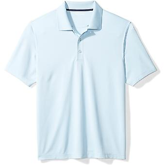 Essentials Menn's Regular-Fit Quick-Dry Golf Polo Skjorte, lyseblå, Medium