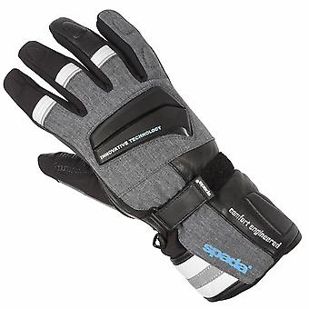 Spada Latour Leather Motorcycle Gloves White Touring Armoured Waterproof