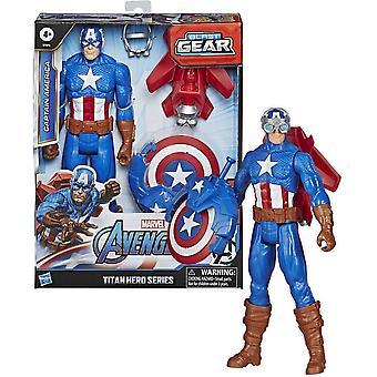 Vengadores Titan Héroe Explosiva Engranaje Capitán América 30cm Niños Juguete