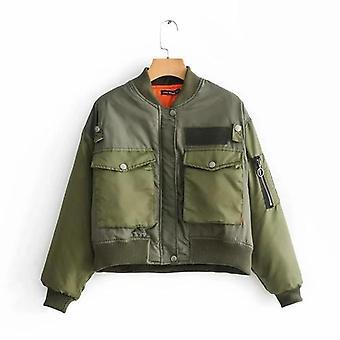Women Army Green Padded Jacket Coat