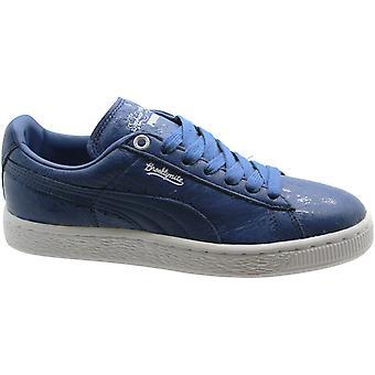 Puma Sophia Chang Basket Classic x Mens Leather Blue Lo Trainers 357296 02 B19D