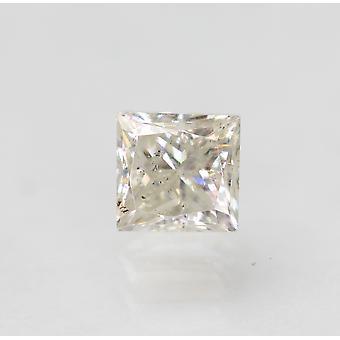 Zertifiziert 0.46 Karat H SI1 Princess Enhanced Natural Loose Diamond 3.88x3.79mm