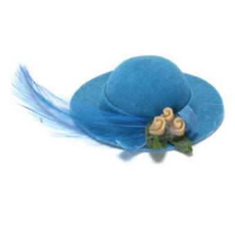 Dolls House Miniature Accesorio Turquesa Lady's Hat 81