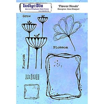IndigoBlu Blomster Hoder A5 Gummi Frimerker