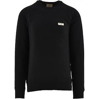Nudie Jeans Black Samuel Logo Sweatshirt
