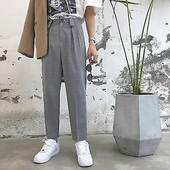 Men Fashion Casual Suit Pant/ Male Streetwear Hip Hop Straight Pants