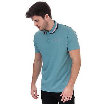 Men's Ted Baker Kabby Golf Polo Shirt in blau