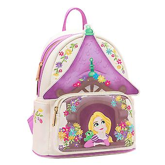 Tangled Mini Backpack Tower nieuwe officiële Disney Loungefly Paars