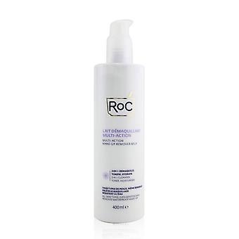 ROC Multi-Action Make-Up Remover Milk - Removes Waterproof Make-Up (All Skin Types, Even Sensitive Skin) 400ml/13.52oz