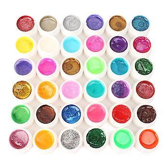 36 Nail Art Tip Polish Glitter Powder Builder Uv Gel Lamp Acrylic Diy Decoration Fashion Xmas Gift