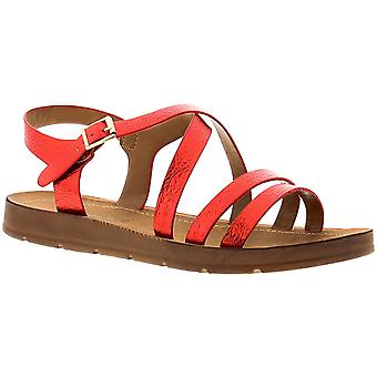 Kimberley Womens Ladies Flat Sandals Red UK Size