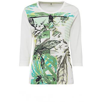 Olsen Pistachio Leaf Design T-Shirt