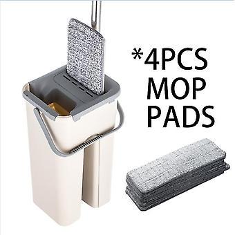 Microfibra profesional fregona y cubo libre a mano para laminado de azulejos de madera noble &