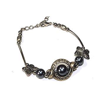 Olivia Antique Style Butterfly Trinket Bracelet