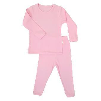 Sweet Pink Ribbbed Lounge Set Unisex Pyjamas