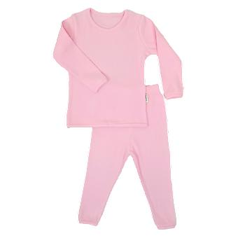 Sweet Pink Ribbed Lounge -setti Unisex Pyjama