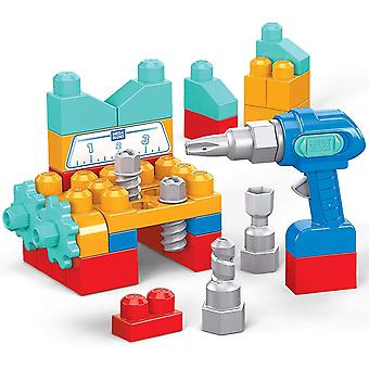 Mega Bloks First Builders Lil' Building Drill Set, Building Toys for Toddlers (32 pieces)