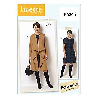 Butterick أنماط B6244B50 Misses / المرأة معطف وفستان، B5 (8-10-12-14-16)