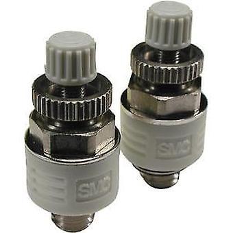 SMC Asn2 limitatore di scarico in ottone 1.5 MPa, filettato, R 3/8 maschio