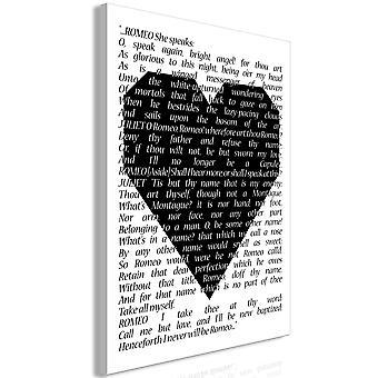 Schilderij - Romeo and Juliet (1 Part) Vertical
