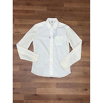 CP Company Poplin Long Sleeve Shirt - Off White