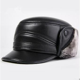 Winter Thick Warm Cap Genuine Leather Hat