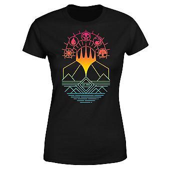 Magic The Gathering Colour Linework Design Women's Short Sleeve T-Shirt - Black