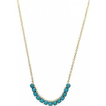 Mark Milton Turquoise Birthstone Necklace - Turquoise/Gold