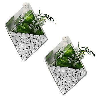 Hanging Diamond Glass Terrarium - Set of 2   M&W