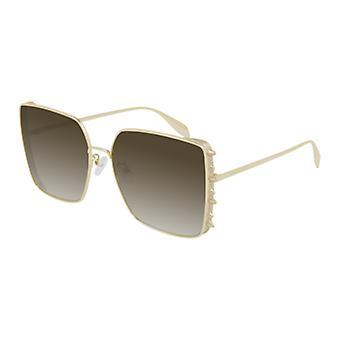 Alexander Mcqueen AM0309S 002 Gold/Braun Gradient Sonnenbrille