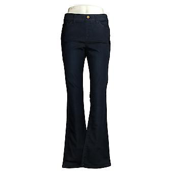 IMAN Global Chic Women's llusion Denim Pull-On Bootcut Jean Blue 734928406