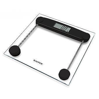 Salter 9205 Kompakti lasi elektroninen kylpyhuone punnitusvaaka suuri näyttö