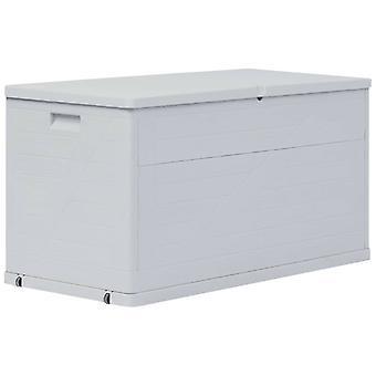 vidaXL حديقة التخزين مربع 420 لتر رمادي فاتح