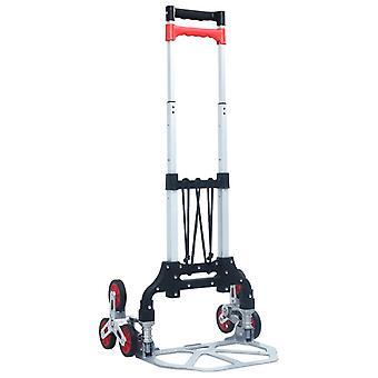 vidaXL chariot de transport d'escalier 70 kg aluminium argent