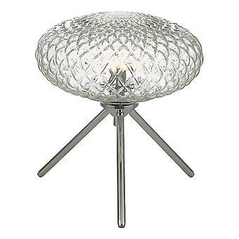 Lampe de table Poli Chrome avec verre clair petit