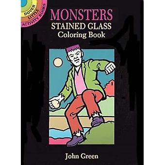ジョン・グリーンのモンスターズ・ステンドグラス・塗り絵