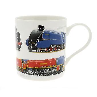 Classic Trains Fine China Mug sencillo