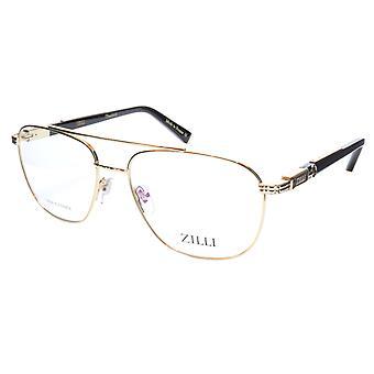 ZILLI glasögon Ram Titanacetat Guld Svart Frankrike Tillverkad ZI 60022 C01