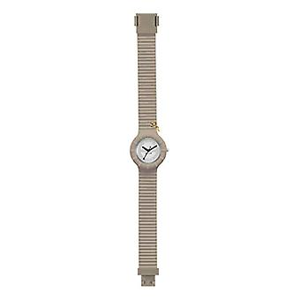 WOMEN'S HIP HOP WATCH HERO 32 MONO-COLOR DIAL WHITE MOVEMENT ONLY TIME - 2H QUARTZ and SILICONE BEIGE STRAP HWU0649(2)