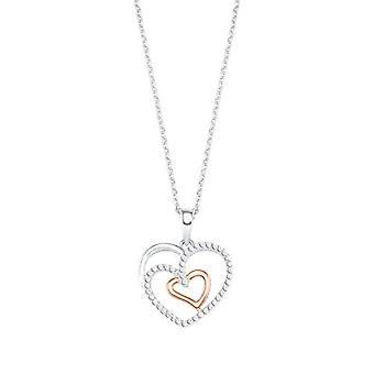Liebe Halskette mit Anhänger für Frauen, Sterling Silber 925, mit Zirkonen(10)