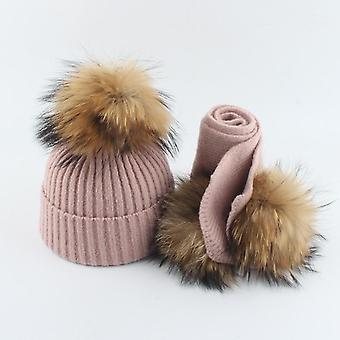 Kids Winter Hat And Scarf Set