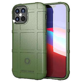 Tpu carbon fiber hoesje voor iphone 12 mini groen mfkj-1836